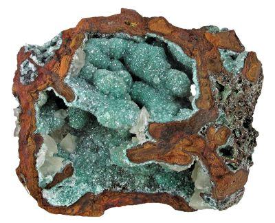 Adamite (Cuprian) & Calcite