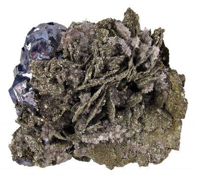 Pyrite Ps. After Pyrrhotite & Galena
