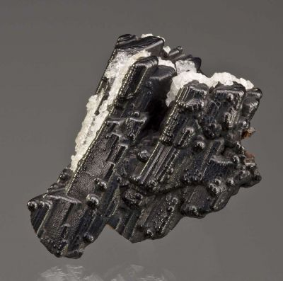 Goethite Pseudo. After Selenite, With Calcite
