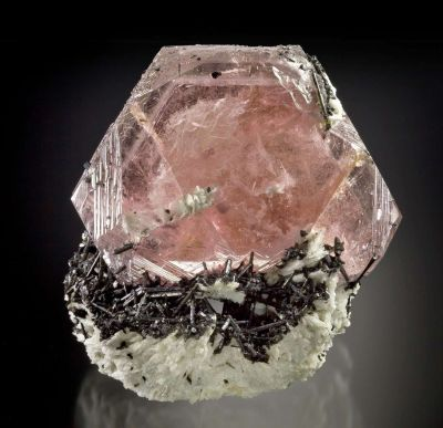Morganite on Schorl