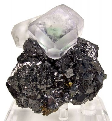 Fluorite on Sphalerite