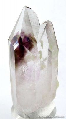 Quartz and Amethyst With Prehnite