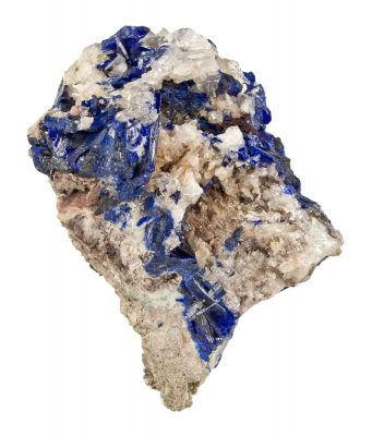 Linarite on Cerussite