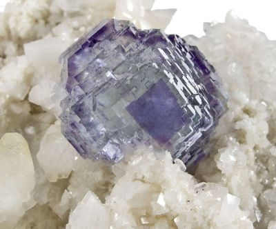 Fluorite on Calcite With Dolomite