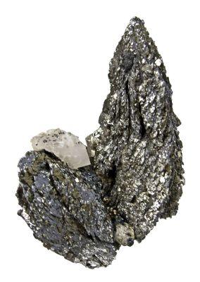 Lollingite With Fluorite and Calcite