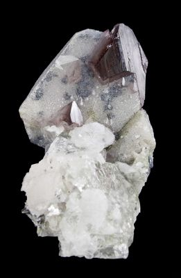Scheelite on Scheelite With Fluorite, Calcite
