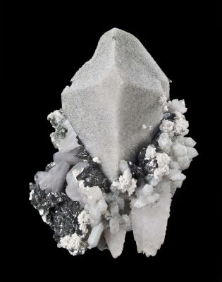 Scheelite With Lollingite, Quartz
