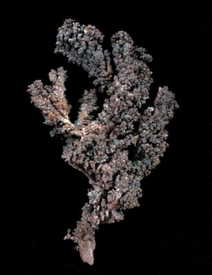 Copper With Malachite, Cuprite, and Cerussite