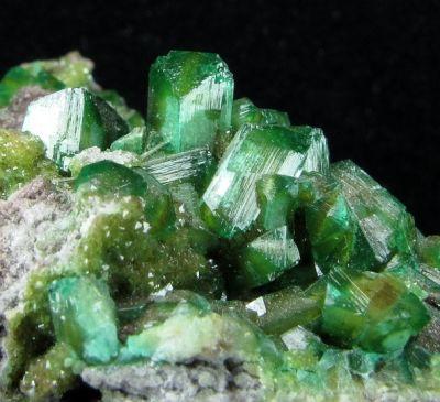 Cuproadamite With Ferrilotharmeyerite (Tl)