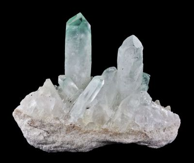 Quartz Included By Fuchsite