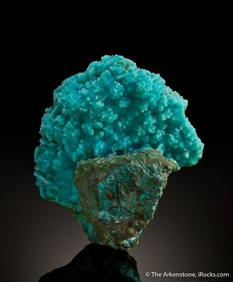 Chrysocolla Ps. After Azurite, Coated By Quartz
