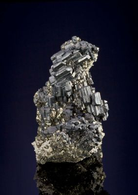 Bournonite on Pyrite