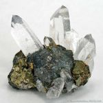 Stannite on Chalcopyrite and Quartz