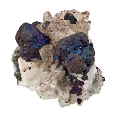 Bornite on Calcite