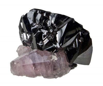 Cassiterite on Apatite