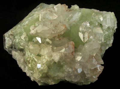 Datolite on Prehnite With Copper Inclusions