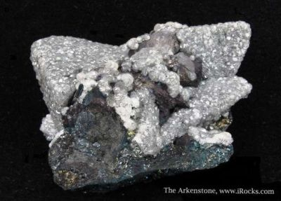 Smithsonite on Tennantite and Galena