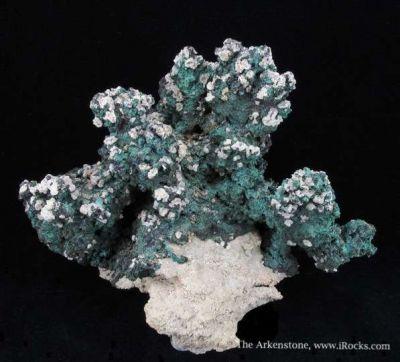 Copper With Malachite and Calcite