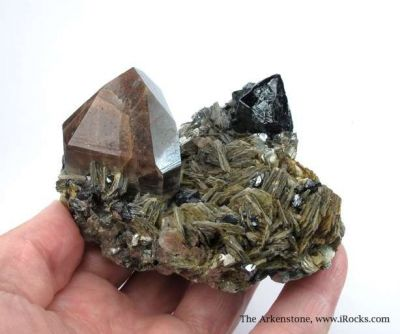 Cassiterite and Quartz With Muscovite