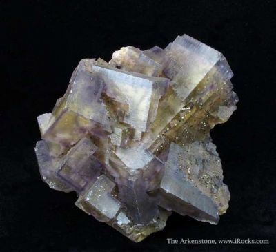 Fluorite With Pyrite and Baryte
