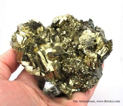Pyrite on Arsenopyrite