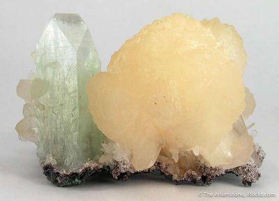 Stilbite and Fluorapophyllite on Stilbite
