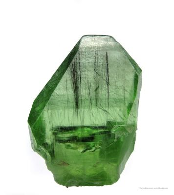 Peridot With Ludwigite Inclusions