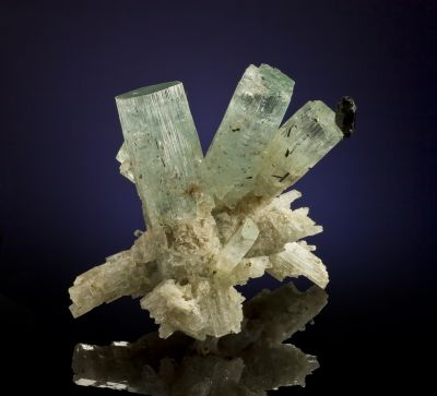Beryl Var. Aquamarine With Schorl