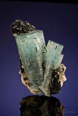 Beryl Var. Aquamarine With Schorl