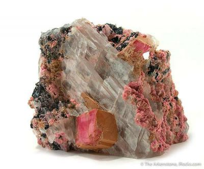 Rhodochrosite With Selenite