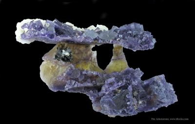 Fluorite With Calcite and Sphalerite
