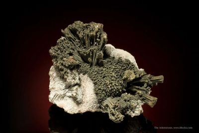 Goethite Ps. After Kutnahorite, on Kutnahorite