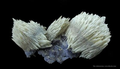 Calcite on Fluorite With Paralstonite (Type Locality)