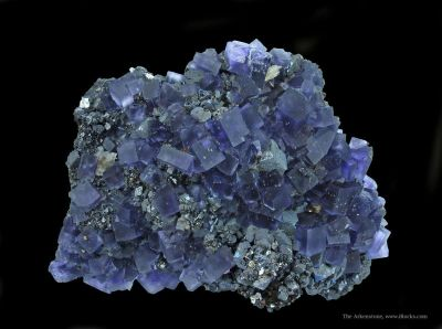 Galena and Fluorite With Sphalerite and Baryte