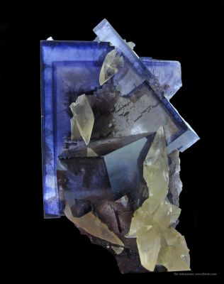 Fluorite and Calcite, With Baryte