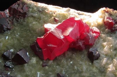 Cinnabar and Calcite
