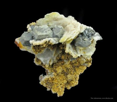 Anglesite Ps. Galena With Cerussite