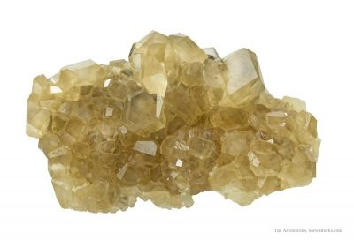 Calcite on Sphalerite
