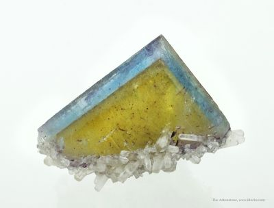 Fluorite and Calcite (Floater)