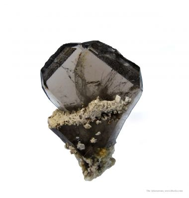Smoky Quartz (Japan Law Twin) With Feldspar