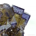 Fluorite on Baryte After Calcite