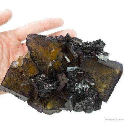 Fluorite Intergrown With Sphalerite