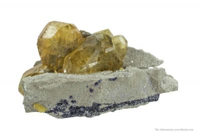 Calcite and Baryte on Ste. Genevieve Limestone With Fluorite