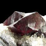 Cinnabar on Quartz and Dolomite