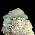 Baryte on Dolomite With Specular Hematite