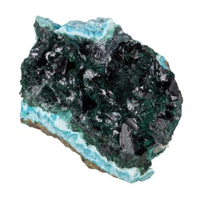 Clinoatacamite on Chrysocolla