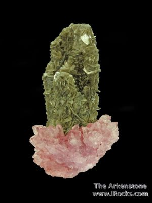 Rose Quartz with Muscovite ps. Tourmaline