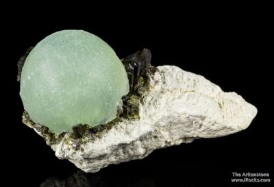 Prehnite on Epidote