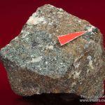 Rare Joesmithite (type locality) with Hematite, Berzeliite and Calcite
