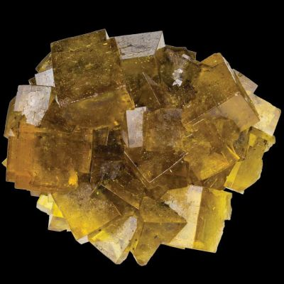 Yellow Fluorites from Annaberg, Germany